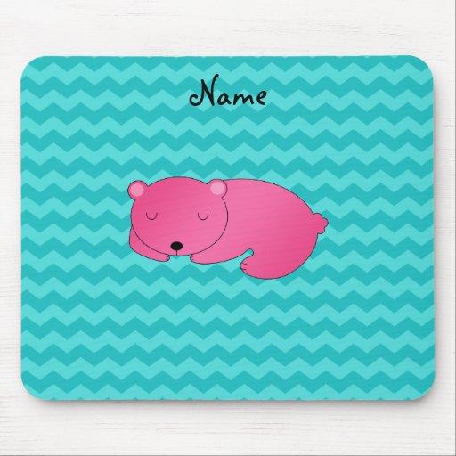 Oso rosado conocido personalizado tapete de ratones