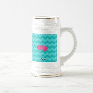 Oso rosado conocido personalizado tazas de café