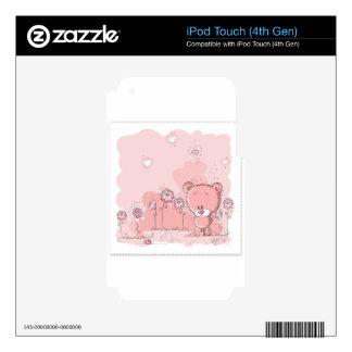 OSO ROSADO iPod TOUCH 4G CALCOMANÍAS