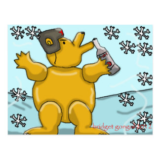 oso ruso de la vodka tarjeta postal