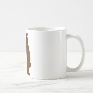 Oso soñoliento del dibujo animado taza