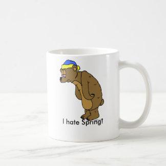 ¡Oso soñoliento, odio la primavera! Taza Clásica