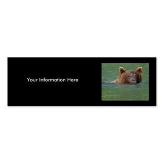 oso plantilla de tarjeta personal