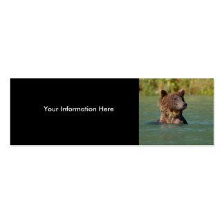oso plantillas de tarjetas personales