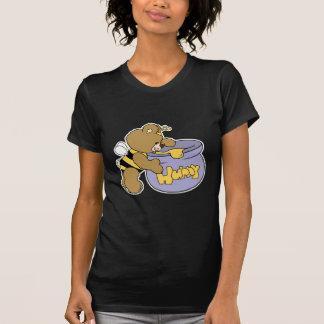 Oso tonto de la abeja de la miel camiseta