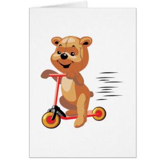 oso tonto de la vespa tarjeta de felicitación