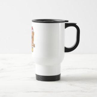 oso tonto del navidad de santa del bastón de caram taza de café