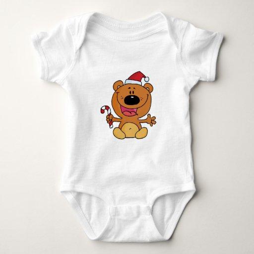oso tonto del navidad de santa del bastón de playeras