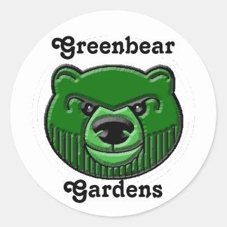 Oso verde, Greenbear Etiquetas Redondas