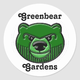 Oso verde, Greenbear Pegatina Redonda