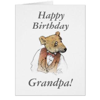 Oso viejo divertido del abuelo felicitaciones