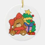 Oso y árbol de navidad lindos del bebé adornos