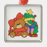 Oso y árbol de navidad lindos del bebé ornamento para reyes magos