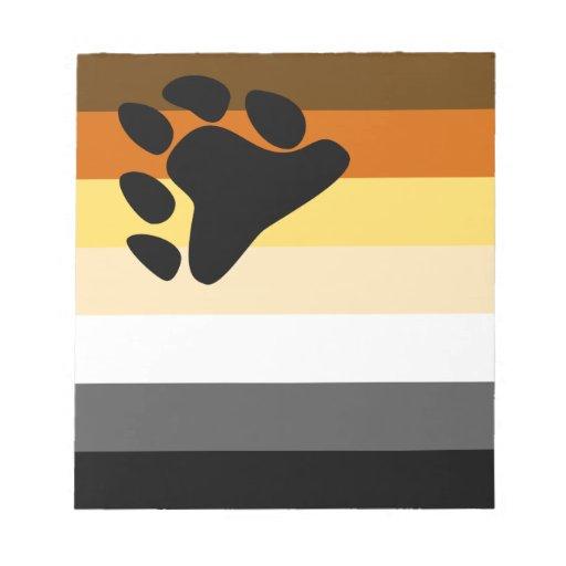 Oso y bandera del orgullo gay de la comunidad LGBT Blocs De Notas