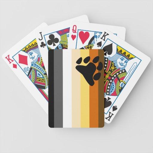 Oso y bandera del orgullo gay de la comunidad LGBT Baraja Cartas De Poker