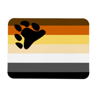 Oso y bandera del orgullo gay de la comunidad LGBT Imán