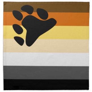 Oso y bandera del orgullo gay de la comunidad LGBT Servilletas Imprimidas