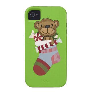 Oso y caramelo felices de peluche en el iPhone 4/4S carcasa