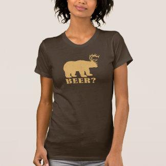 ¿Oso y ciervos = cerveza? Camiseta borracha del ca