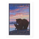 Oso y Cub - Anchorage, Alaska Postales