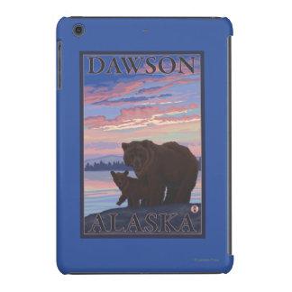 Oso y Cub - Dawson, Alaska Funda De iPad Mini