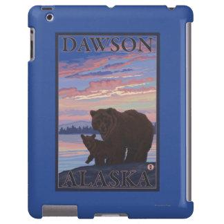 Oso y Cub - Dawson, Alaska Funda Para iPad