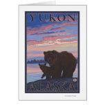 Oso y Cub - el Yukón, Alaska Tarjeta De Felicitación