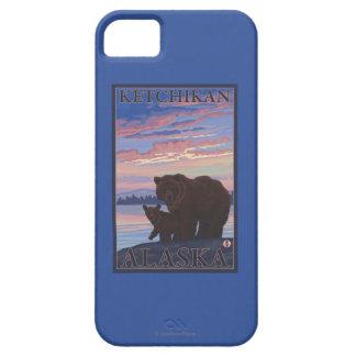 Oso y Cub - Ketchikan, Alaska iPhone 5 Carcasas
