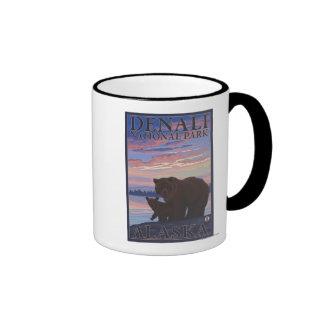 Oso y Cub - parque nacional de Denali Alaska Tazas De Café