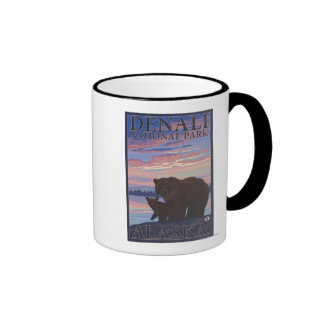 Oso y Cub - parque nacional de Denali, Alaska Taza De Dos Colores