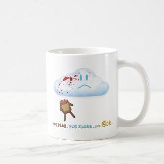 Oso y nube descabezados taza