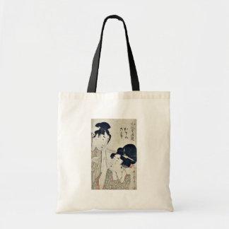 Osono and Rokusaburo by Kitagawa, Utamaro Ukiyoe Canvas Bags