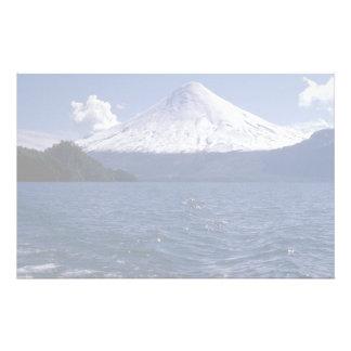 Osorno volcano and Todo Los Santos lake, Chile Stationery