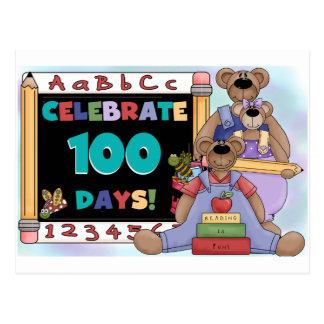 Osos 100 días de escuela tarjeta postal