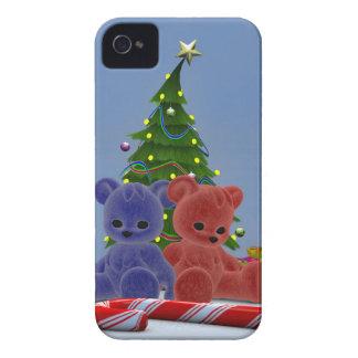 Osos 2 del navidad Case-Mate iPhone 4 protectores