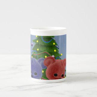 Osos 2 del navidad taza de porcelana