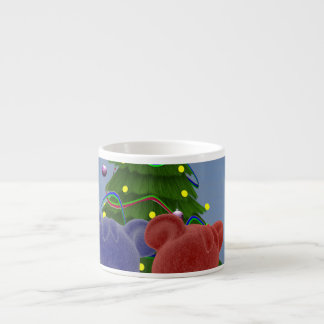 Osos 2 del navidad taza espresso