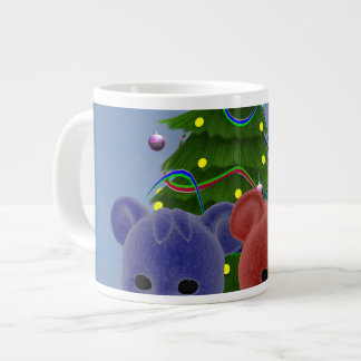 Osos 2 del navidad taza grande