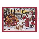 Osos arrogantes de la tarjeta de Navidad del perro