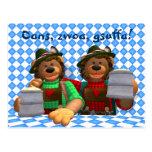 Osos bávaros de Oktoberfest de los osos pequeños Postales