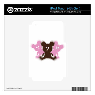 Osos borrosos lindos iPod touch 4G skins