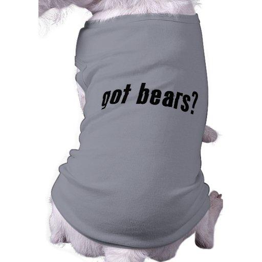 ¿osos conseguidos? playera sin mangas para perro
