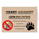 Osos contra Goldilocks Felicitación