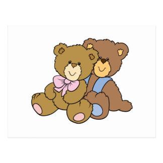Osos de abrazo lindos de los amigos tarjetas postales