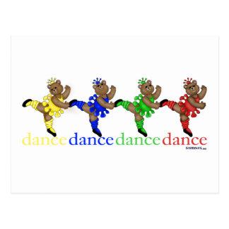 Osos de baile postales