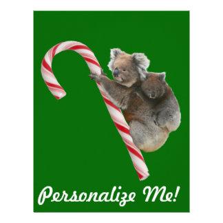 Osos de koala australianos del bastón de caramelo membrete personalizado