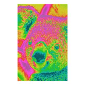 osos de koala fluorescentes papeleria personalizada