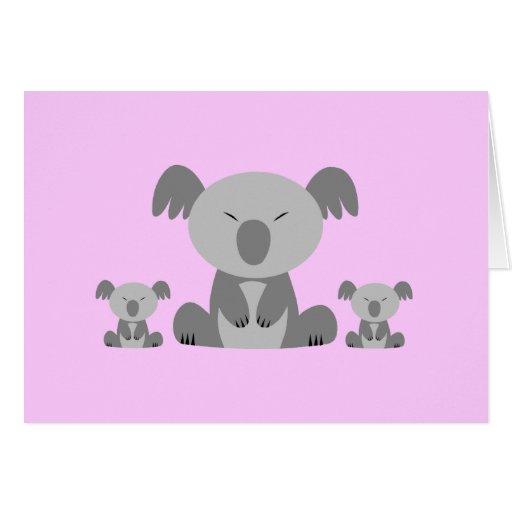 Osos de koala lindos tarjeta de felicitación