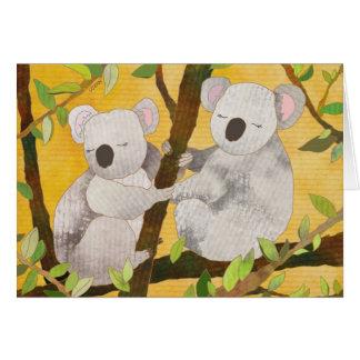 Osos de koala: Tarjeta en blanco