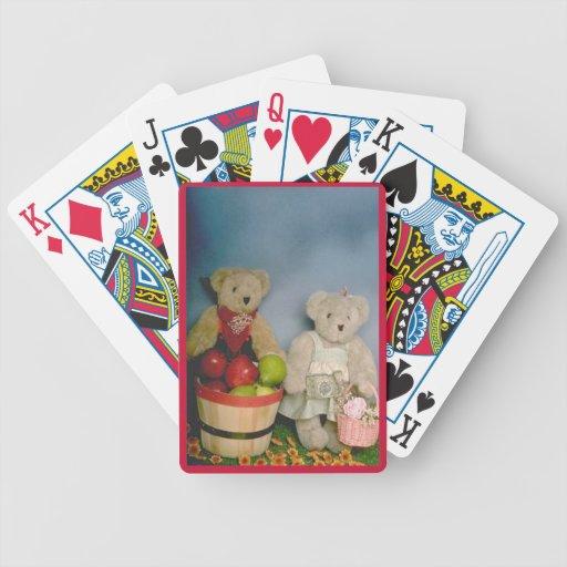 Osos de la cosecha baraja cartas de poker